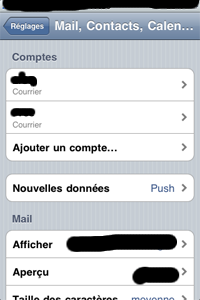 iphone réglage port 587 : mail